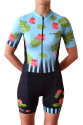 CYCLING SET FOR WOMEN FLOWERS