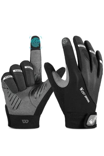 Rękawiczki Rowerowe Czarne Długie palce