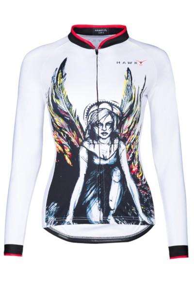 Damska Koszulka Rowerowa długi rękaw ANGEL
