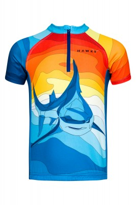 CYCLING JERSEY  FOR CHILDREN -SHARK