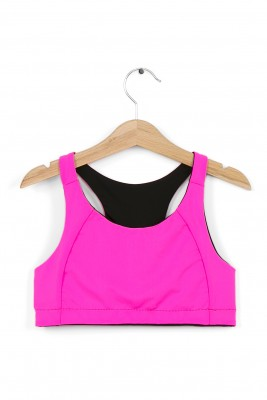 TWO-SIDED SPORT BRA – BLACK / PINK