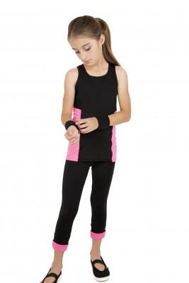 Koszulka sportowa na ramiączkach - Róż