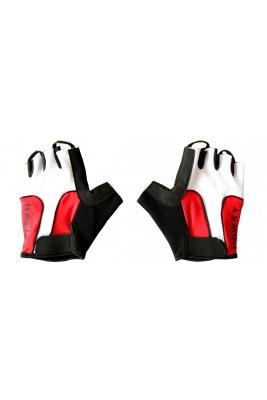 Rękawiczki Rowerowe Męskie Czerwone