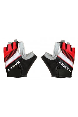 CYCLING GLOVES -RED BLACK
