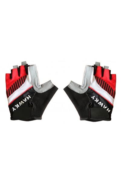 Rękawiczki Rowerowe czerwono- czarne