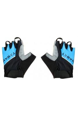 Rękawiczki Rowerowe Niebiesko- Czarne