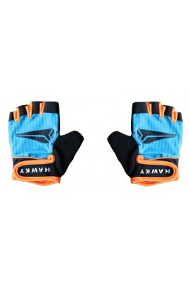KID'S CYCLING GLOVES - BLUE BLACK