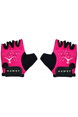 KID'S CYCLING GLOVES - ROSE